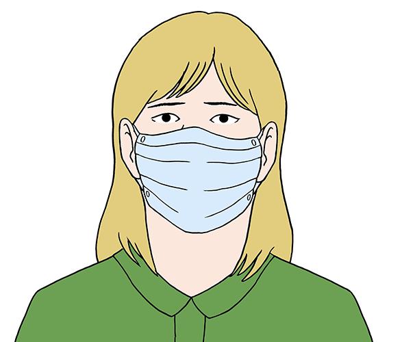 Mund-Nase-Schutz.