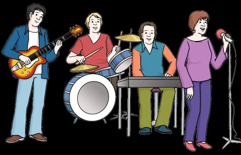 Musik-Gruppe.