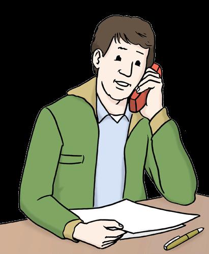 Ein Mann telefoniert.
