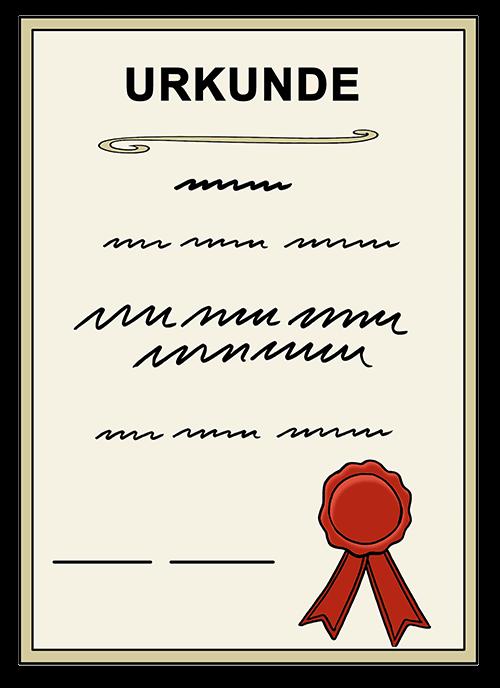 Bild von einer Urkunde.