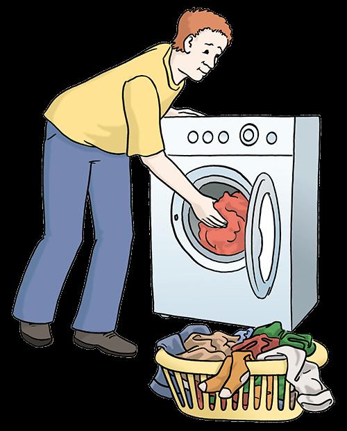 Wäsche waschen.