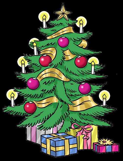 Weihnachts-Baum mit Geschenken.