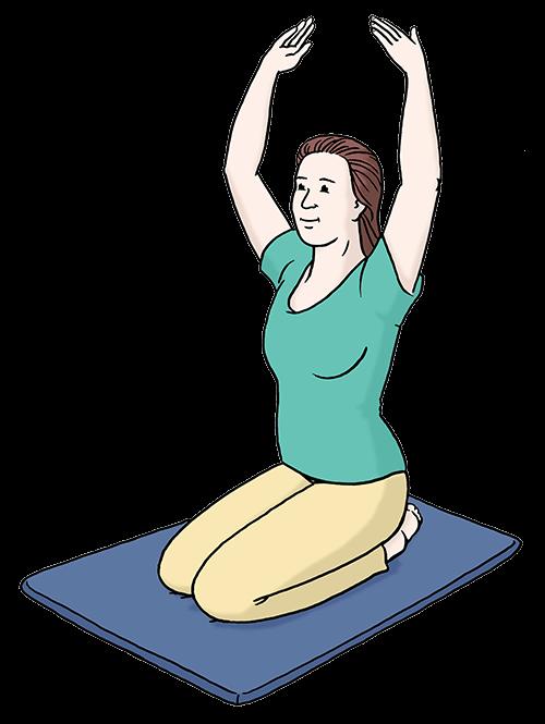 Eine Frau macht alleine Sport auf einer Matte.