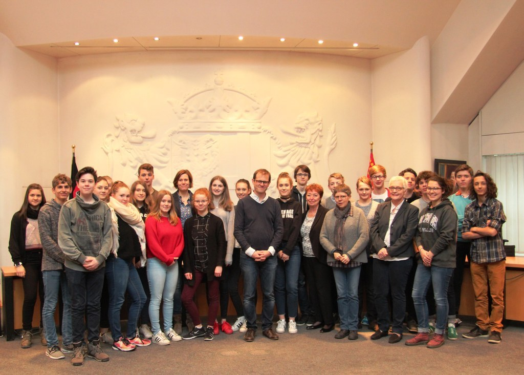 Schülerempfang des Lycée Pierre Bayen aus Châlons-en-Champagne